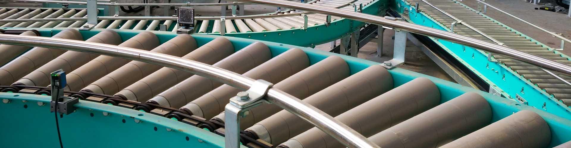 2521 Series Sprocket Steel Tapered Conveyor Roller